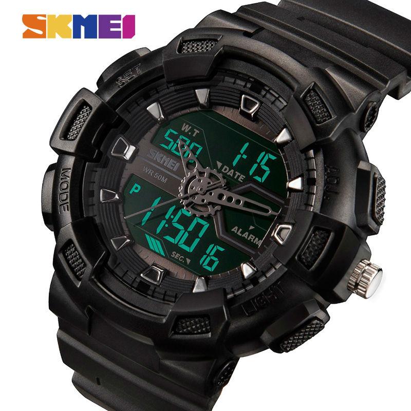 SKMEI Men Watches Outdoor Quartz Sports Wristwatches Fashion Casual Multifunction 50M Waterproof Watch Boy Relogio Masculino
