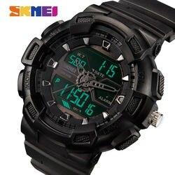 Skmei homens relógios de quartzo ao ar livre esportes relógios de pulso moda casual multifunções 50 m à prova dwaterproof água relógio menino relogio masculino