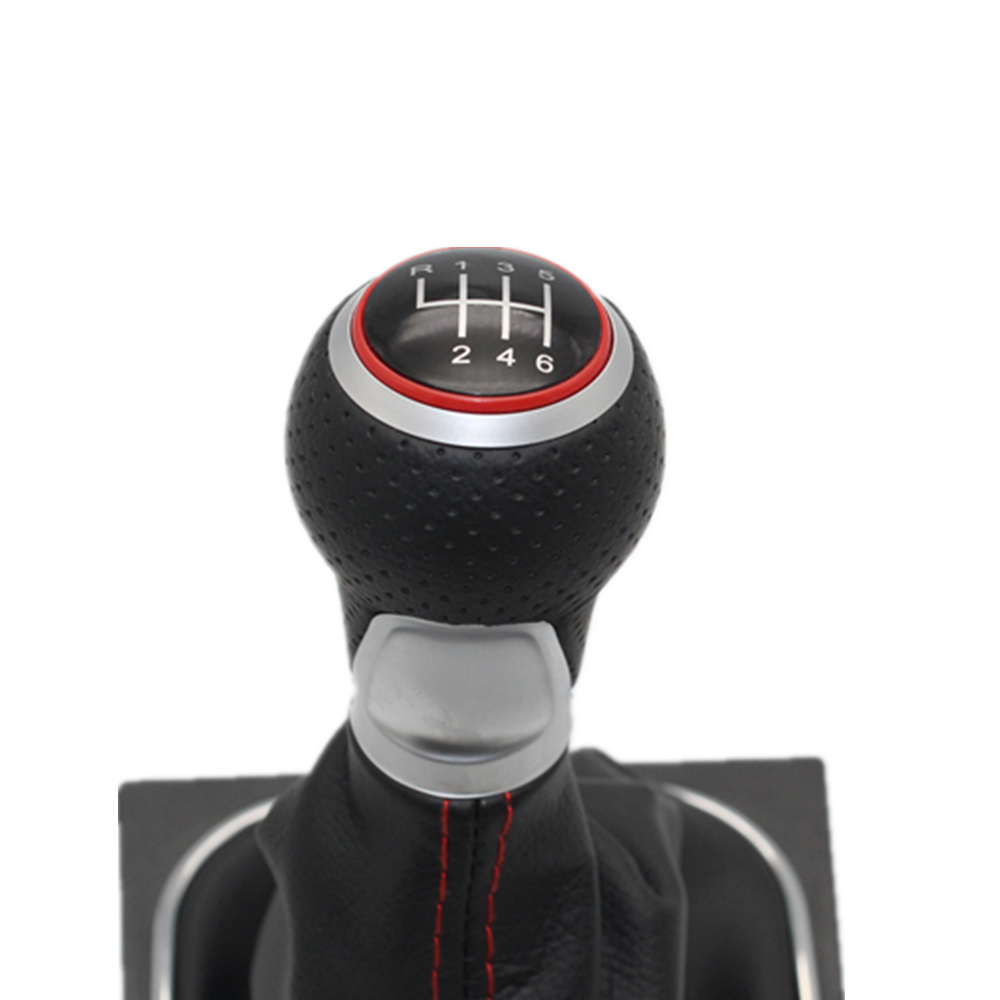 Image 2 - For VW Golf 5 A5 MK5 GTI GTD R32 2004 2005 2006 2007 2008 2009 New 6 Speed Car Gear Stick Level Shift Knob With Leather Boot-in Gear Shift Knob from Automobiles & Motorcycles