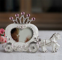 New Fashion White Horse Carriage Heart Home Decor Photo Frame Picture Frame Alloy Metal 3