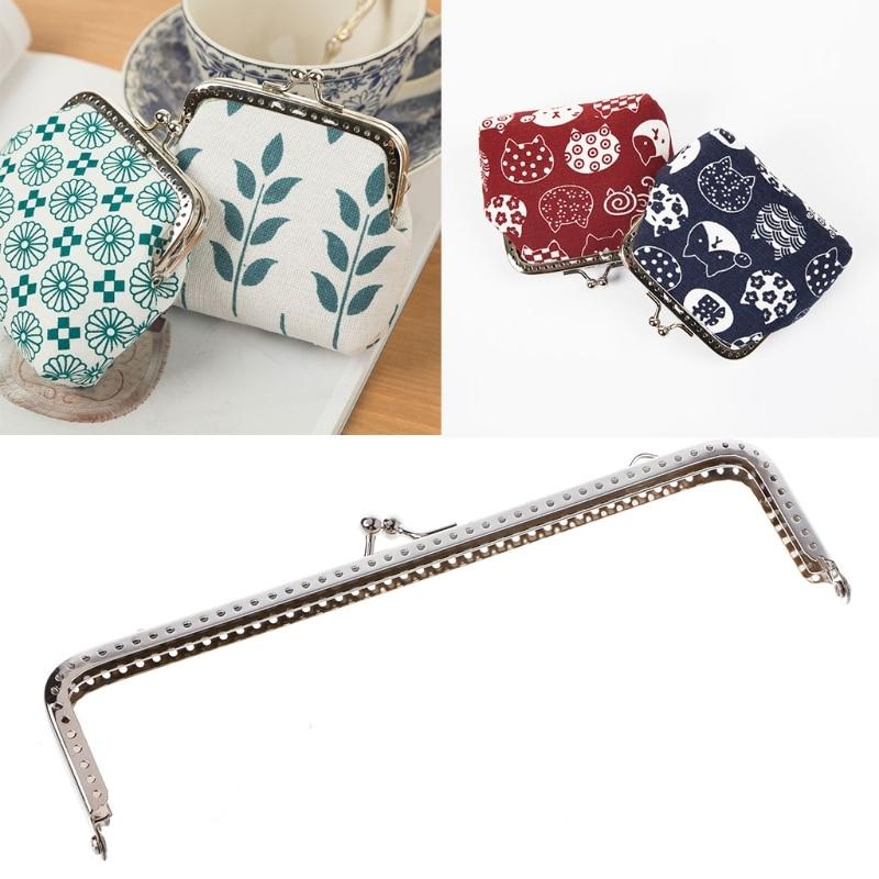 THINKTHENDO 1PC Square Metal Frame Kiss Clasp For Handle Bag Purse  Accessories DIY 18cm