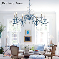 Amerikanischen Luxus Kreative Kristall Kronleuchter Prinzessin Zimmer Kinderzimmer Lichter Schlafzimmer Europäischen Blau LED Kristall Kronleuchter