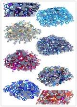 Multi-color AB Top Quality Crystal Glass Super Bright Hot Fix Rhinestone Strass Hotfix Iron On Rhinestones for Fabric Garment viborg 55cm 22 top quality super smooth
