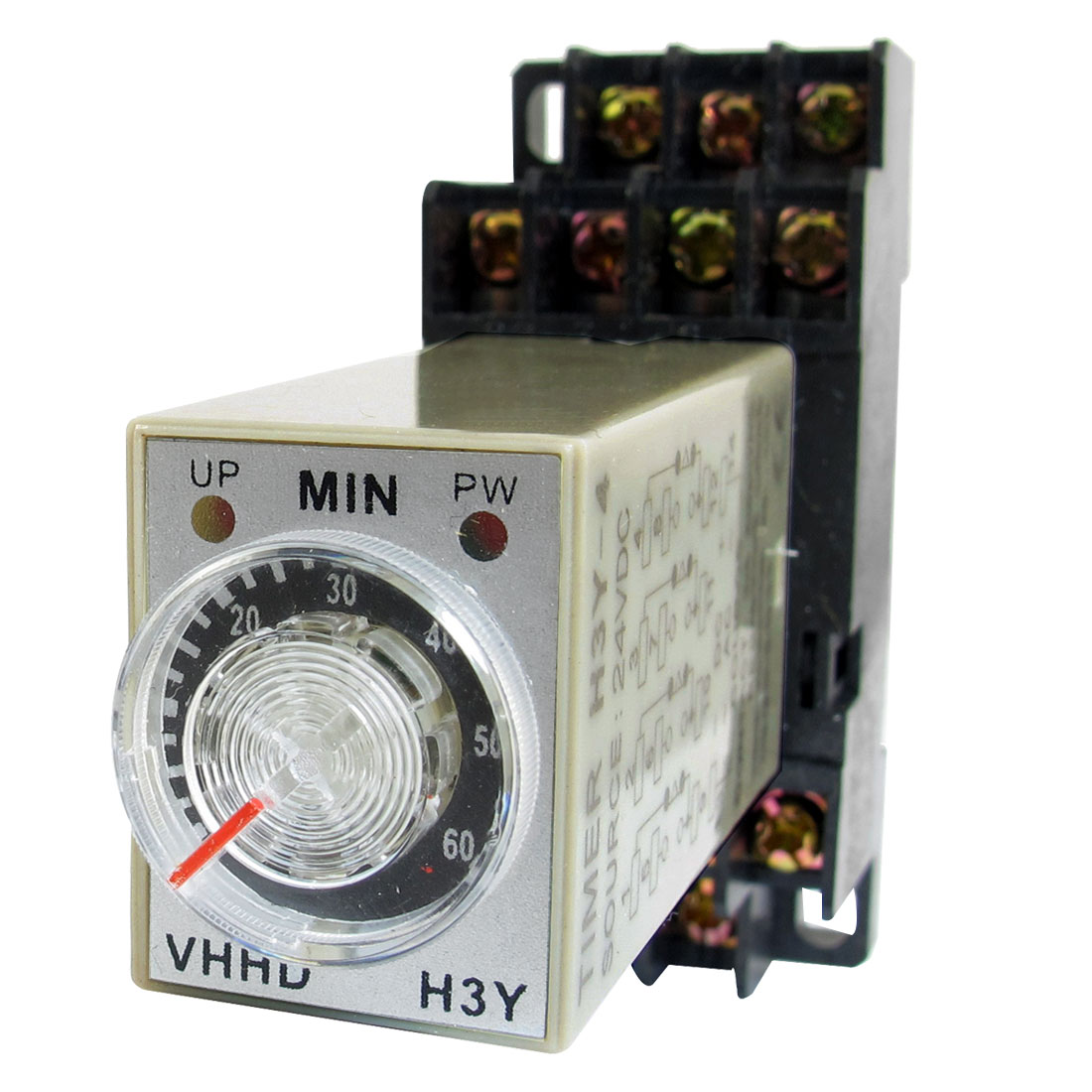 24V 0-60 Minute 60M Timer Power On Delay Time Relay 14 Pin H3y-4 + Socket ac 220v power on delay timer relay and socket asy 3d 99s relays