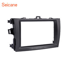 Seicane 178*100mm Double Din Car Radio Fascia Frame Stereo CD Dashboard Panel For Toyota Corolla 2008 2009 2010(China)