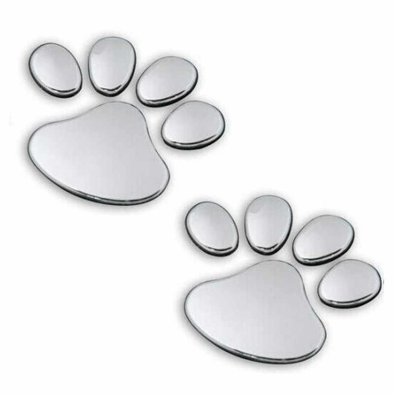 1Pair car stickers Sports Pet Animal 6cm x 6cm Paw Footprints Emblem Car Truck Decor 3D Sticker Decal sticker Dependable 11.27