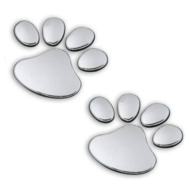1Pair car stickers Sports Pet Animal 6cm x 6cm Paw Footprints Emblem Car Truck Decor 3D Sticker Decal sticker Dependable 11.27