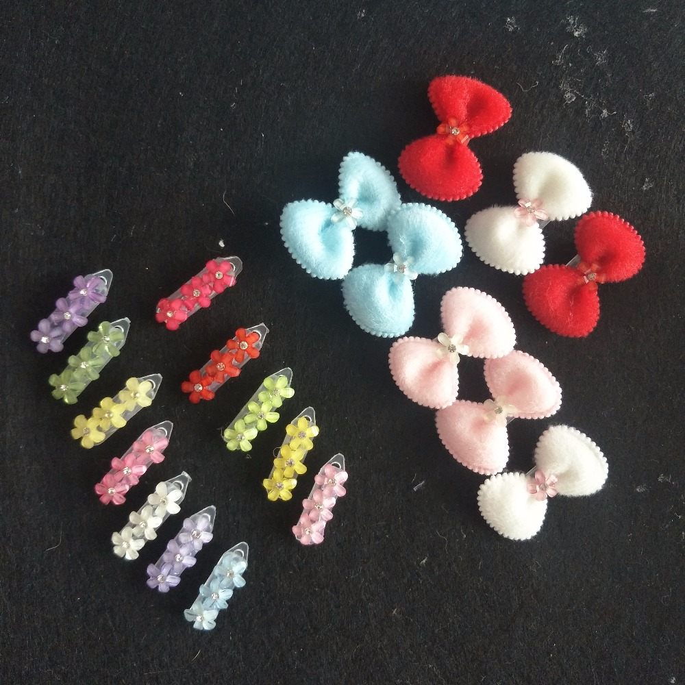 20pcs lot font b Pet b font Hairpin Bows Hair Clips For Dogs Teddy Yorkshire font