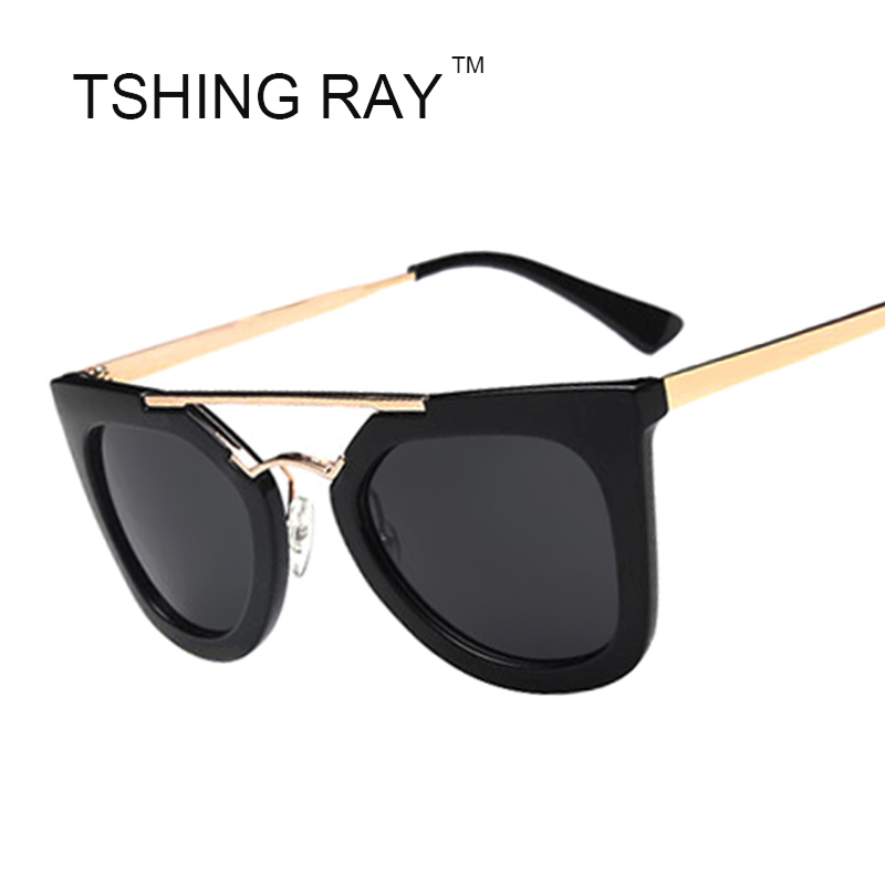 classic flat top cat eye sunglasses fashion