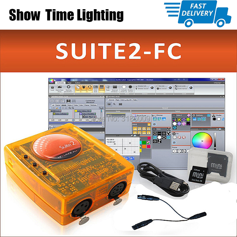 Fast delivery Sunlite Suite2 FC DMX-USD Controller DMX 1536 Channel good for DJ Party LED Lights Stage Lighting control software