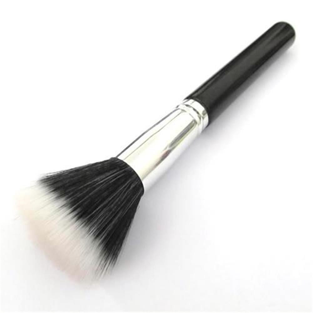 Image 2 - New Cosmetic Powder Brush Skin Care Black 187 Duo Fiber Stippling Mineral Blush Foundation Powder Beauty Brush Makeup Tools-in Eye Shadow Applicator from Beauty & Health