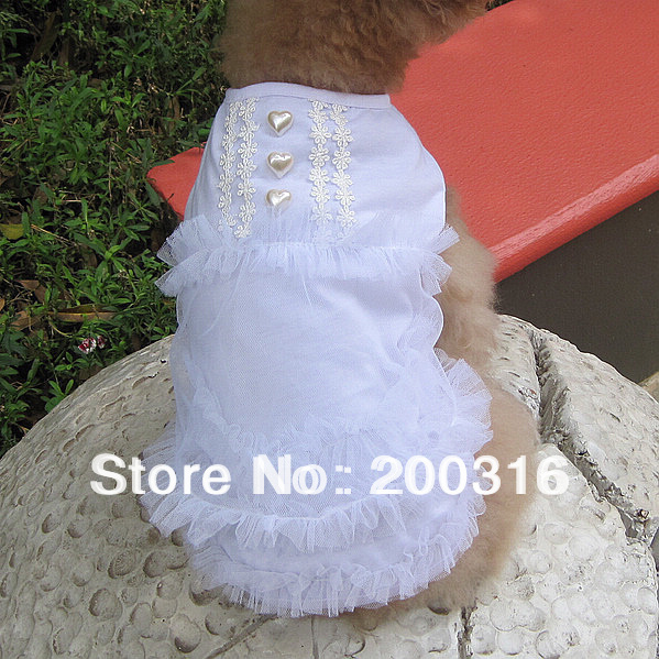 New Cute three color selection  dogs dress with fashion design Free Shipping 2013 new design