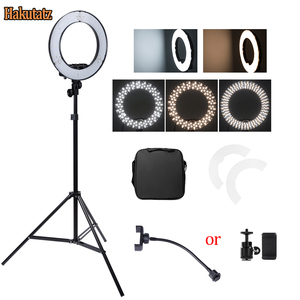 Image 3 - Dimmable 13 inches 45W LED SMD 5500K Ring Light Kit with Bag, Filter Set, Extended Mini Ball Head, Cellphone Holder, Light Stand
