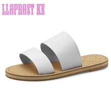 Lloprost ke verano nueva mujer gladiador zapatillas moda mujeres zapatos planos ocasionales zapatillas de gran tamaño sandalias zapatos mujer jt248