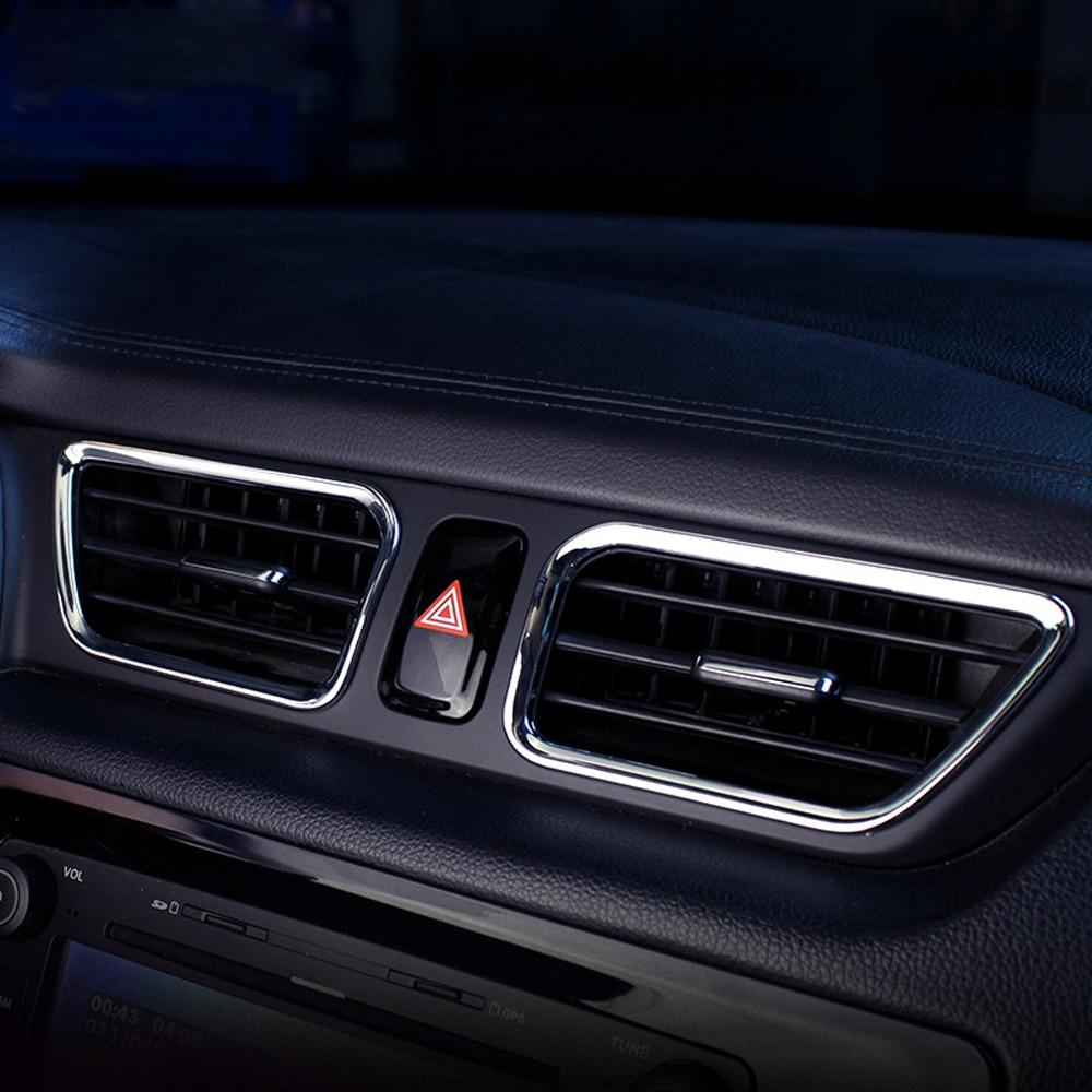 6 unids set parte superior inferior aire acondicionado outlet chrome auto trim accesorios de decoraci n