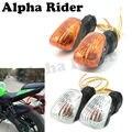 F/r señales de giro blinker indicador de dirección de la lámpara para kawasaki zx-6r z1000 z750 kle650 versys ninja650r kle500 bicicletas de carreras