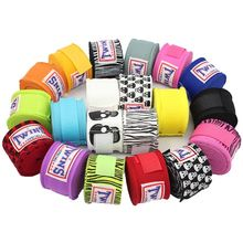 1 pair 5 meters TWINS Boxing Hand Wraps Strap Kick Handwraps for Training Bandages Muay Thai Karate  Mma Gloves A