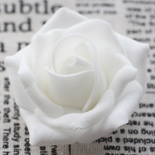 6cm Large Foam Roses Heads 100pcs Pe Artificial For Crafting White Fake Flower DIY Wedding Arrangement Bouquets Real Touch