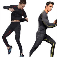 Compression Clothing Sets Top Pants T Shirts Base Layer Long Leggings Fitness Suits Crossfit Bodybuilding Clothes