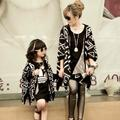 Chegada nova Bebês Meninas Stripes Batwing Luva Cardigans Blusas Assimétricas Botões V Neck Outwears Casual Festa de Natal Coa