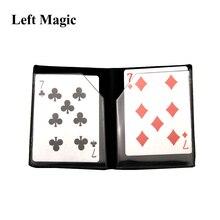 Оптический кошелек, карточка, волшебные трюки, кошелек, плавление с магнитной картой, уличный, сценический, магии, иллюзия, ментализм