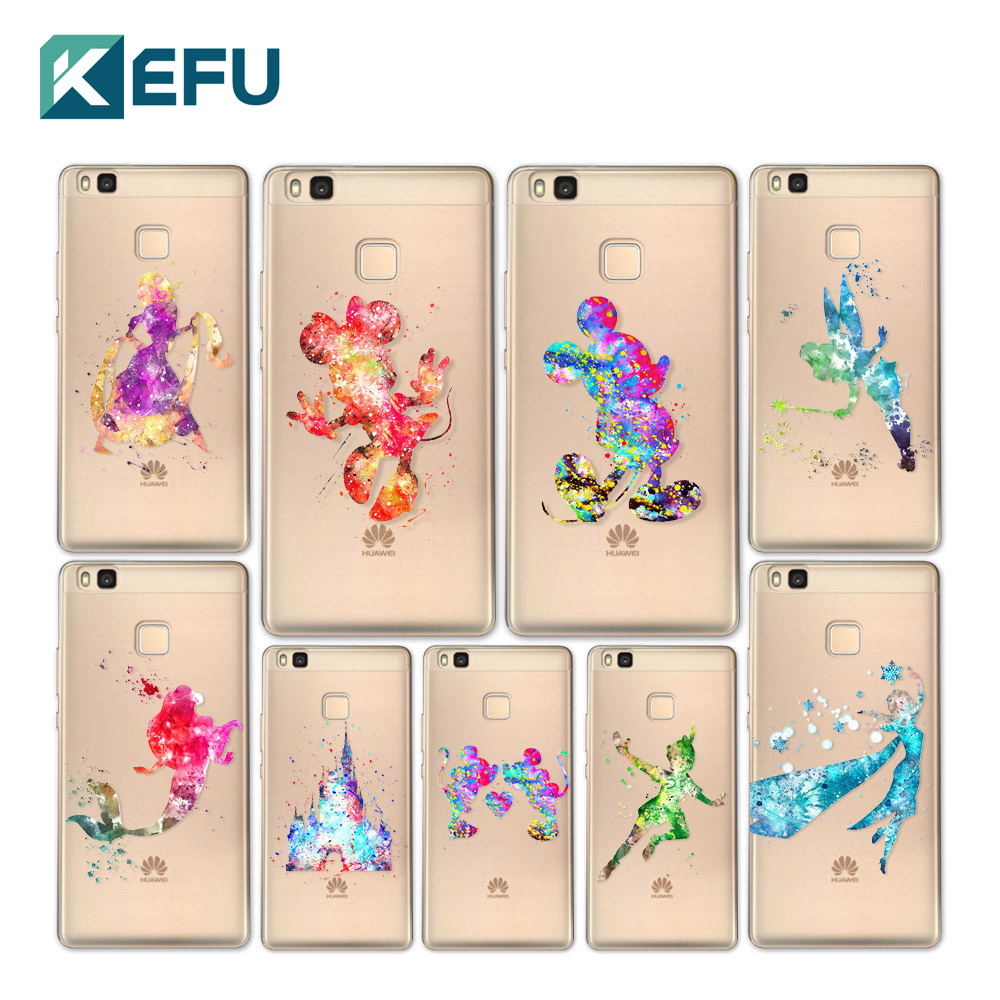 for coque huawei p9 lite case princess hard pc cover for fundas huawei p8 lite case 2017 new