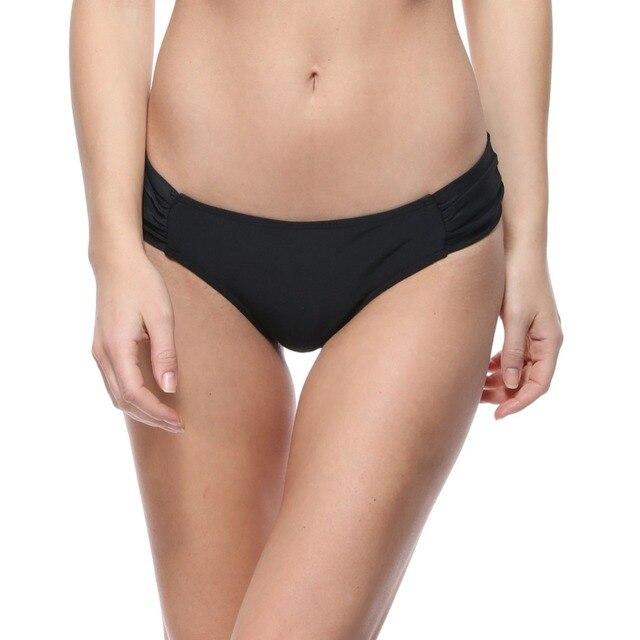 Dos Piezas Separan Los Pantalones Sexis Del Bikini De Las Mujeres Traje Baño Sólido 2018 Nueva Ropa Playa Verano Negro Naranja