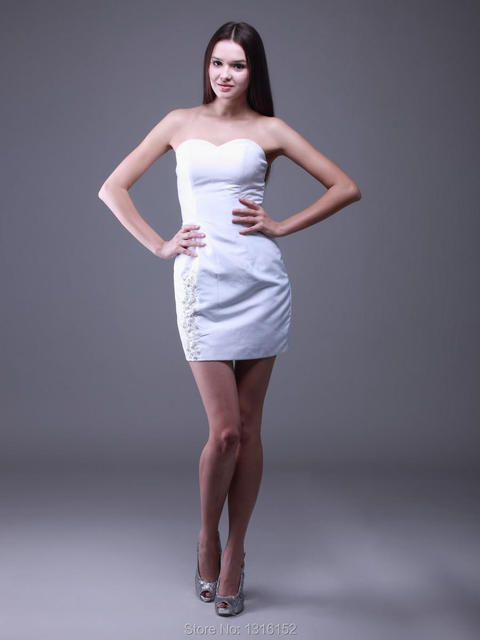 74de7b99dd2 Discount price skintight miniskirt white homecoming dress zipper design  beads adornment simple atmosphere sweet girl dress