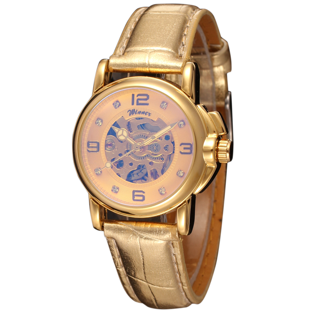 Winner Woman's Watch Fashion Lady Design Brand Automatic Dress Wristwatch WRL8011M3G3