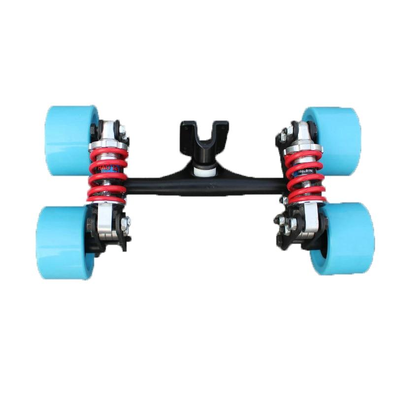 2019 New Electric Skateboard Truck Aluminum Bridge New Four Skateboard Wheels Long Skate Board Truck For Flate Plate Parts