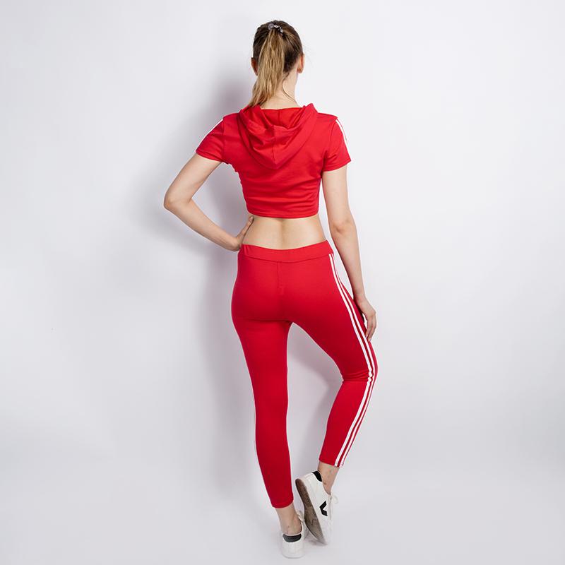 HTB1.hRtSVXXXXcGaFXXq6xXFXXXR - Women Brand Two Piece Set Side Striped Crop Top And Leggings Red Fitness Set JKP041