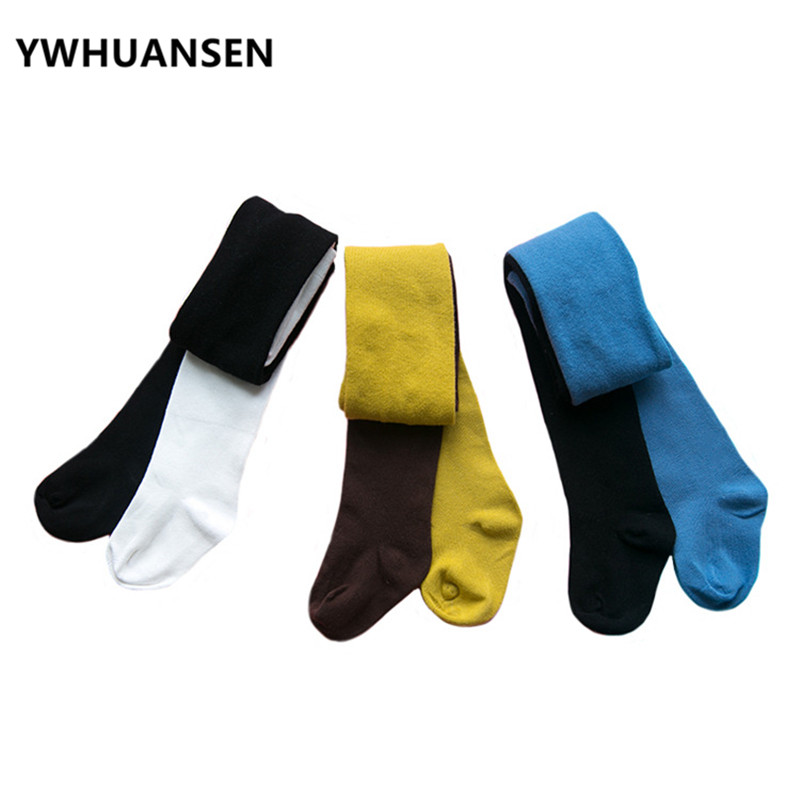 YWHUANSEN Fashion Patchwork Baby Pantyhose Cotton Tights For Boys 2018 New Tights For Children Girl Collants Fillettes Two Color