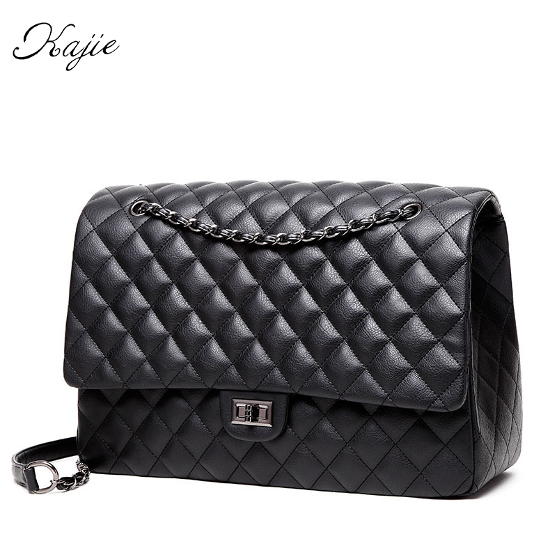 Fashion Shoulder Bag Ladies Big Travel Bags Leather Pu Quilted Bag Female Luxury Handbags Women Bags Designer Sac A Main Femme luxury handbags women bags designer brand famous scrub ladies shoulder bag velvet bag female 2017 sac a main tote