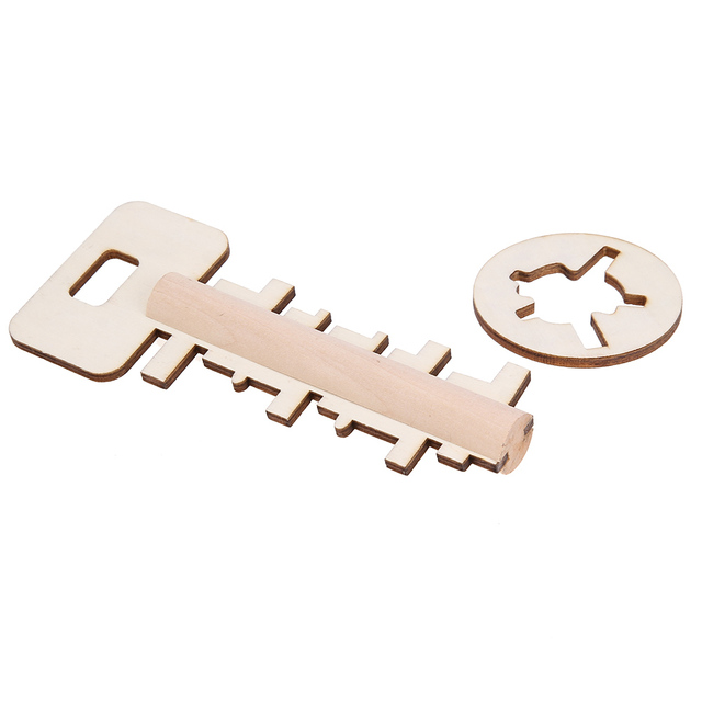 Wooden toys Unlock Puzzle Toy Key Lock Toys Educational Children Pre-school Puzzles Game Toy For Adults Kids Gifts