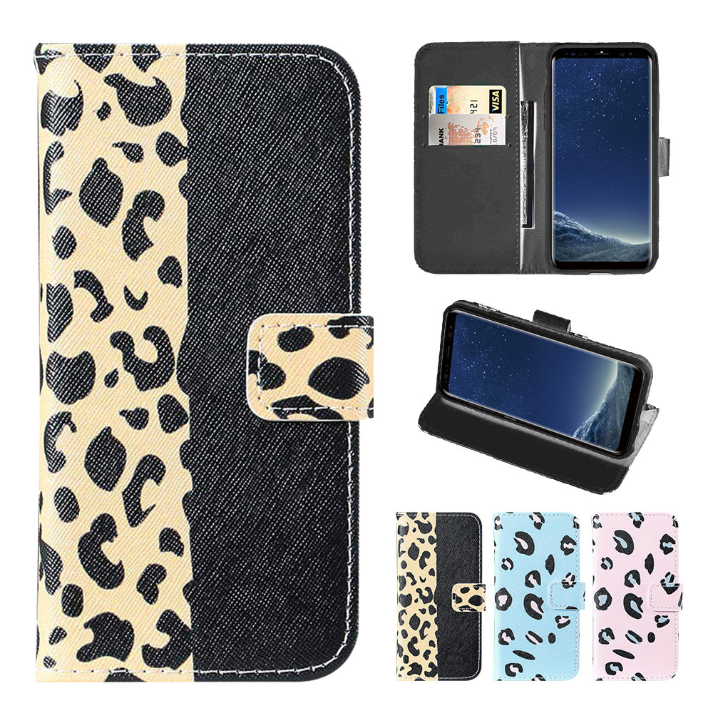 KISSCASE Leopard Leather <font><b>Case</b></font> For Samsung Galaxy S10E S10 S9 <font><b>S8</b></font> Plus Note 8 9 Flip Wallet Card Phone <font><b>Case</b></font> For Samsung A9 A8 A7 image