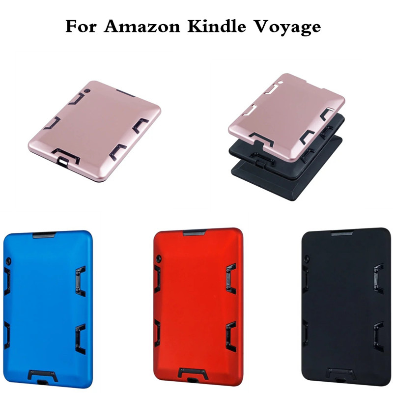 Luxury Gold Case Shockproof Hybrid Heavy Duty PC + TPU cover Kids Safe Armor cases For Amazon Kindle Voyage 6 capa funda
