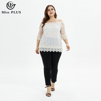 womens tops and blouses plus size lace Cut Out half sleeve off shoulder tops for women summer shirt elegant white ladies blouse