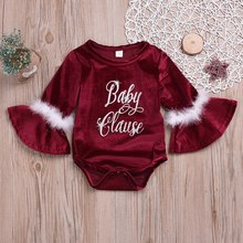 New Autumn Baby Girl Flare Long Sleeve Letter Print Rompers Kids Bodysuit Soft Jumpsuit Lovely Newborn Clothes