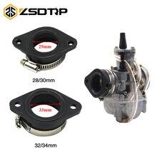 Carburetor-Adapter Intake-Pipe Dirt-Bike ZSDTRP Motorcycle 28/30mm Fit UTV Inlet Rubber-Mat