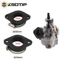 ZSDTRP Motorcycle Carburetor Adapter Inlet Intake Pipe Rubber Mat Fit on PWK 28/30mm 32/34mm Carburetor  UTV ATV Pit Dirt Bike