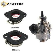 ZSDTRP Motorcycle Carburetor Adapter Inlet Intake Pipe Rubber Mat Fit on PWK 28/30mm 32/34mm Carburetor UTV ATV Pit Dirt Bike(China)