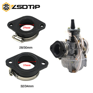 ZSDTRP Motorcycle Carburetor Adapter Inlet Intake Pipe Rubber Mat Fit on PWK 28/30mm 32/34mm Carburetor UTV ATV Pit Dirt Bike(China)