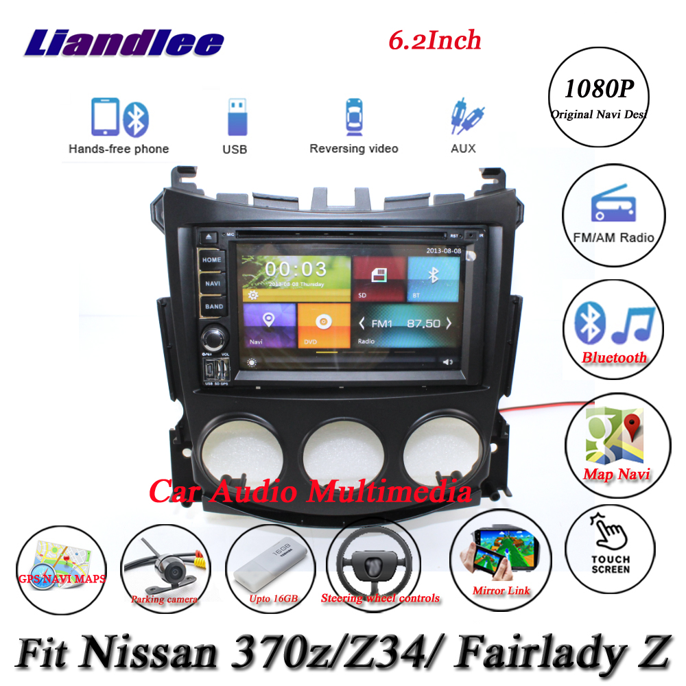 Liandlee Car System For Nissan 370z / Fairlady Z / Z34 Radio Video DVD Player GPS Nav MAP Navigation 1080P HD Screen Multimedia