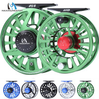 Maximumcatch Fly Fishing Reel 1/3/4/5/6/7/8WT Fly Reel Machined Aluminium Micro Adjusting Drag Fly Fishing Reel and Spool