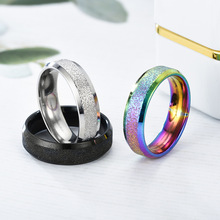 Fashion new stainless steel matte couple titanium ring jewelry accessories