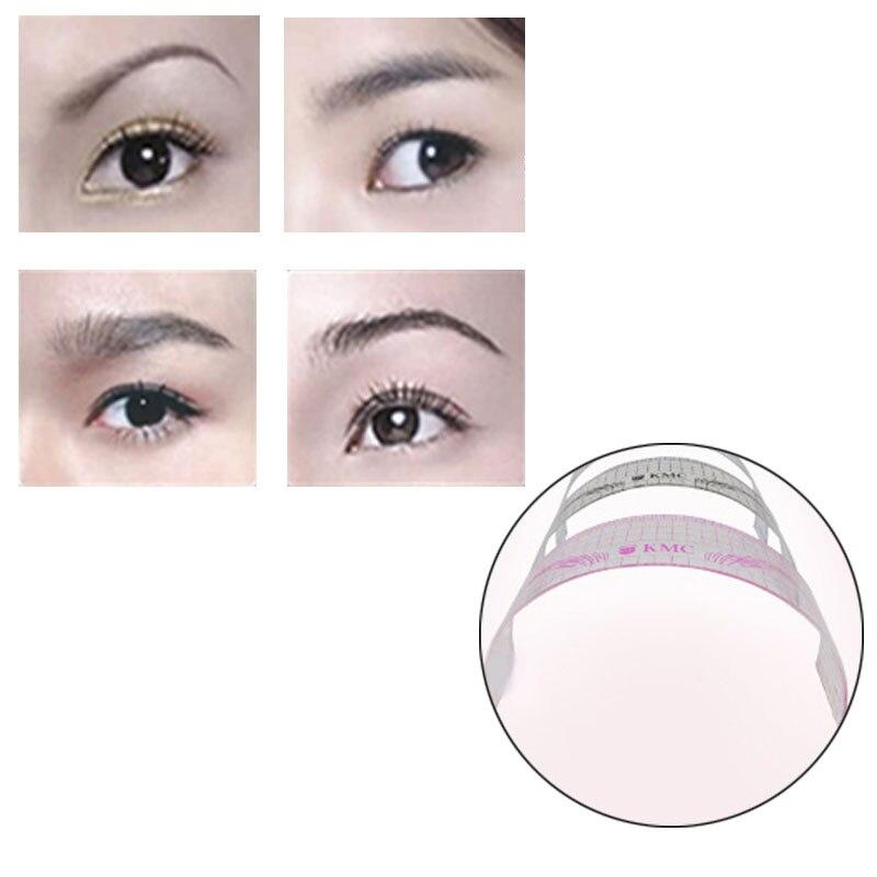 New Permanent Makeup Stencils Plastic Eyebrow Ruler Tattoo Radian