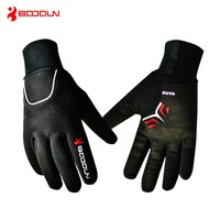Boodun Waterproof Windproof Fleece Gloves Winter Bicycle Thermal Guantes Ciclismo Bicicleta Luvas Men Full Finger Cycling