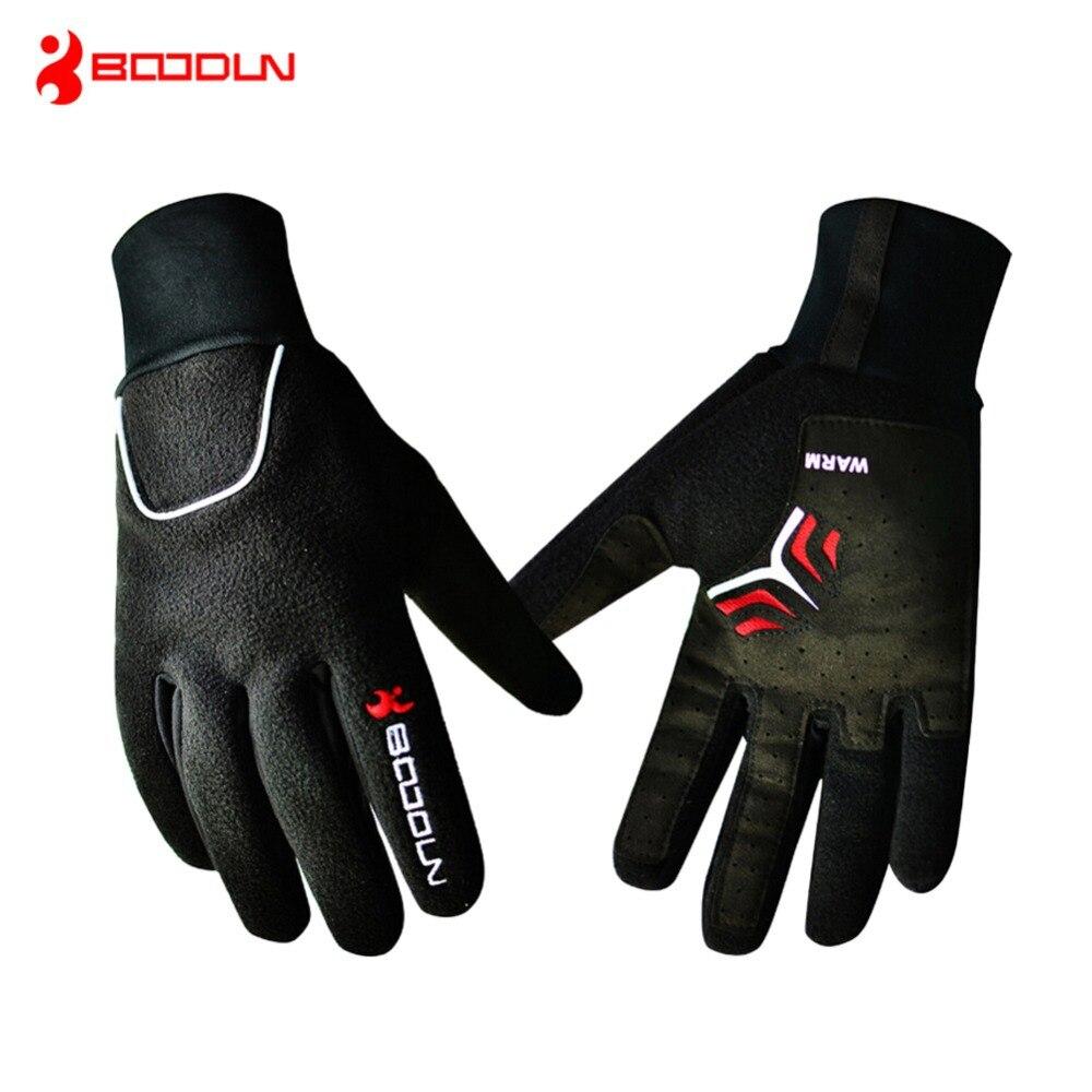 BOODUN Windproof Fleece Bicycle <font><b>Gloves</b></font> Winter MTB <font><b>Bike</b></font> Thermal Guantes Ciclismo Bicicleta Luvas Men Full Finger Cycling <font><b>Gloves</b></font>