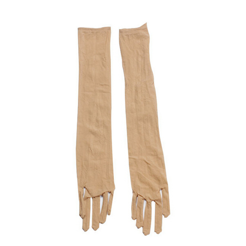 Sheer Seamless Long Gloves Affordable Luxury Smooth Silk Socking Gloves