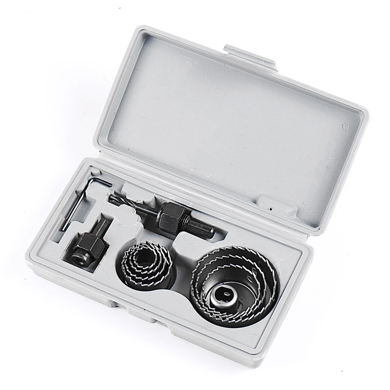 11pcs Hole Saw Drill Bit Kit w// Mandrels Case Wood Sheet Metal 19-64mm Set Tools